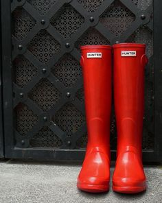 Red Hunter Boots, #Boots  #Hunter