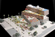 Downtown mixed-use development project. Santa Monica. OMA
