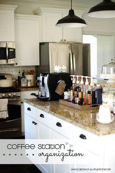 Coffee Station Organization via A Bowl Full of Lemons  #coffeestation