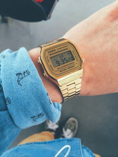 gold casio watch for