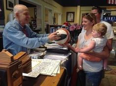 Make someone smile today! Mattress Mack is autographing a basketball for a young customer. ! Thank you for believing in what we have to offer! Check out our amazing sales, promotions and incredible products! We can't wait to serve you today! #Customer_Service #Parenting #Shopping | Houston TX | Gallery Furniture |