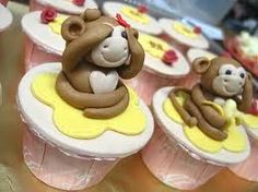 Cute monkey cupcakes