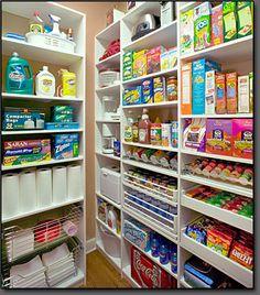 nice pantry organization