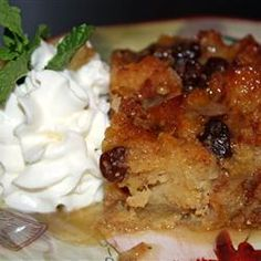 Gramma's Apple Bread Pudding | A tasty and easy dessert recipe.