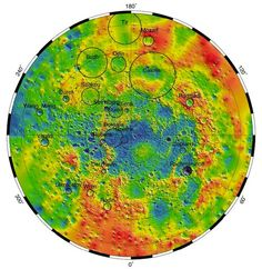 """""""Planet Mercury Even Weirder Than We Thought""""- Topography of craters around Mercury's North Pole. The largest is Caloris Basin... more than 900 miles across, formed around 4 billion years ago. By measuring the height of surface features on Mercury, MESSENGER was able to show that the floor of Caloris Basin  expanded upward, rising higher than the crater's rim. This suggests that an active interior on Mercury pushed the floor up... later in the planet's history than previously thought possible."""