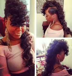 Weave/Sew-ins Hairstyles on Pinterest | Mohawks, Shaved Sides and ...