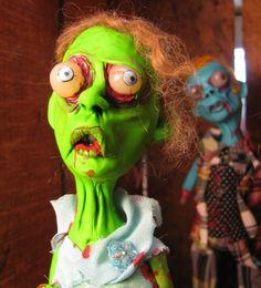 ooak walking dead zombie Prom gone wrong by mealymonster on Etsy, $60.00