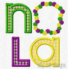NOLA Beads Applique Machine Embroidery Design by SillyCatDesigns, $3.50