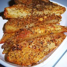 Baked Parmesan Crusted Potato Wedges Recipe