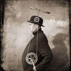 hats, photographi inspir, fli hat, strang, odditi, inventor, steampunk, yves lecoq