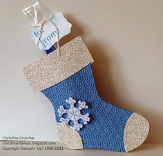 Christine Stamps: Sparkly Holiday Stocking Bigz Die
