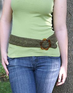 Ravelry: Soft Linen Lace Belt pattern by Amy Polcyn