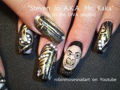 Nail-art by Robin Moses Mr. Kaka  http://www.youtube.com/watch?v=gJi5oKxkA6E