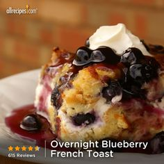 Ovenight Blueberry French Toast