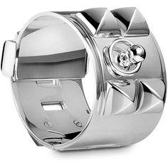 Silver Jewelry Hermès Bracelets ($3,525) found on Polyvore
