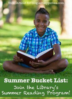 Summer Bucket List Idea: Library Summer Reading Program | find more great summer bucket list ideas at blog.ashleypichea.com