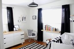Project Nursery - Black and White Nursery