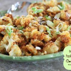 Oven Roasted Panko-Parmesan Cauliflower Recipe