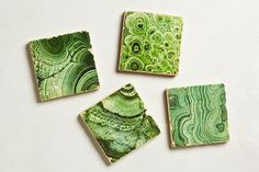 Cute Green Marble Coasters from Anthropologie