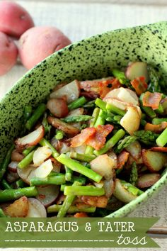 One of our favorite side dishes - Asparagus & Tater Toss. This is so good and easy too. Recipe on { lilluna.com }