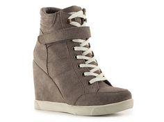 SM Lleve Suede Wedge Sneaker   by DSW