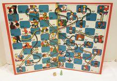 1943 Milton Bradley Chutes & Ladders; snakes & ladders