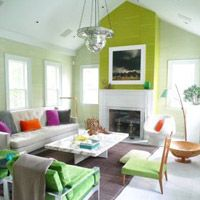 Pops of color. Interior by Frank Roop.