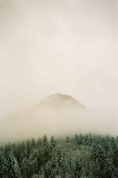 #mountain #fog #green #outdoors