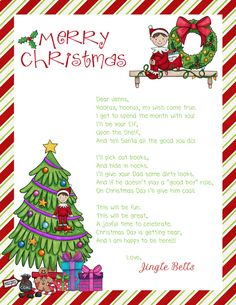 Elf On The Shelf Goodbye Letter Template | New Calendar Template Site