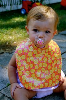 the chirping moms: How to Make A Bib (Very Easily)
