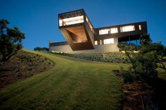 Contemporary Australian House Design Hollow Burnt