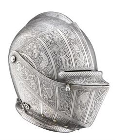A FINELY ETCHED NORTH ITALIAN CLOSE HELMET FOR THE FOOT TOURNEY, MILANESE, CIRCA 1590