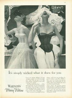 Vintage shapewear ad