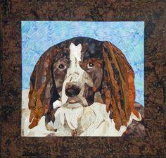 Made-to-order art quilt by Diane McGregor, Castilleja Cotton