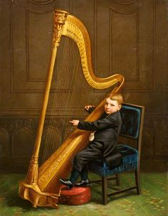 Boy with a Harp, 1882  George Frederick Harris