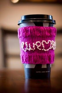 Coffee Cozy Free Knitting Pattern