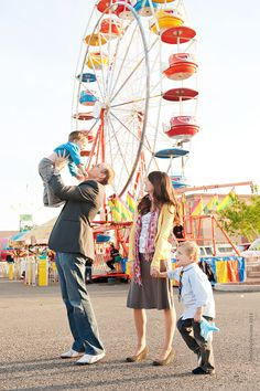 lovely family photo at the fair