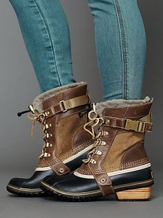 Sorel - you're winning me over with these! Conquest Weather Boot