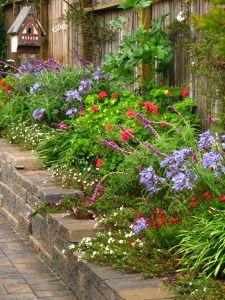 flower border, raised gardens, yard, driveways, fences, hous, blog, walk, raised flower beds
