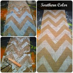 Luv this!!  Southern Color: Holiday Handmade Gift Exchange: Burlap Chevron Stripe Table Runner