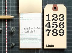 tag notebooks : present & correct