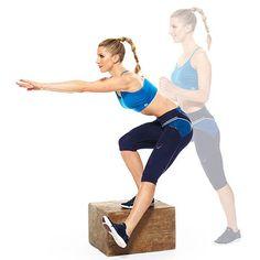 Total-Body Plyo Box Workout: Power Pistol Squat