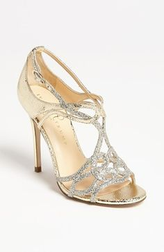 I know you don't want heels, but these are really pretty and art deco-y  Ivanka Trump 'Herly' Sandal | Nordstrom