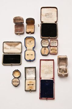 pretty vintage ring boxes