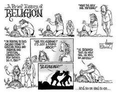 The history of religion, summarized in one cartoon