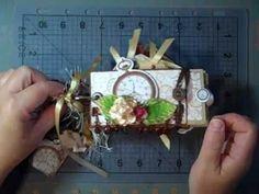 Toilet paper Mini Scrapbook Using Timepiece Paper