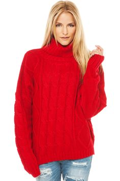 Six Crisp Days By Fire Sweater   Red Sweater   Sweaters and Cardigans