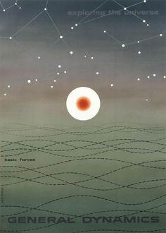 Erik Nitsche Poster: General Dynamics - Basic Forces