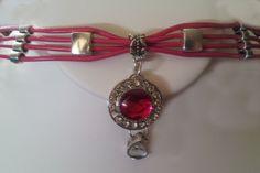 Dressy Pretty in Pink adorable  slave/submissive Collar -  BDSM  Item (46). $40.00, via Etsy.