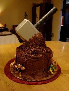 Thor's hammer cake... pretty cool!